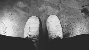 λευκό πάνινων παπουτσιών Στοκ Εικόνα