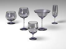 λευκό πέντε γυαλιών πατωμά Στοκ Εικόνες
