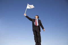 λευκό παράδοσης σημαιών Στοκ φωτογραφίες με δικαίωμα ελεύθερης χρήσης