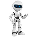 λευκό παραμονής ρομπότ Στοκ εικόνα με δικαίωμα ελεύθερης χρήσης