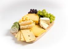 Λευκό παραλλαγής πιάτων τυριών Στοκ Εικόνες