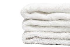λευκό πετσετών στοιβών Στοκ φωτογραφίες με δικαίωμα ελεύθερης χρήσης