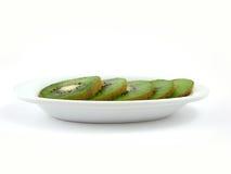λευκό πιάτων ακτινίδιων Στοκ Φωτογραφίες