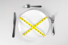 λευκό πιάτων σιτηρεσίου Στοκ Εικόνα