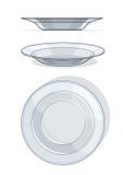λευκό πιάτων Στοκ φωτογραφία με δικαίωμα ελεύθερης χρήσης