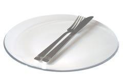 λευκό πιάτων Στοκ Εικόνες