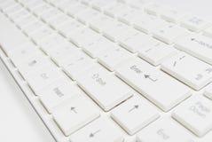 λευκό πληκτρολογίων υπ&o Στοκ εικόνα με δικαίωμα ελεύθερης χρήσης