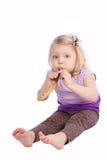 λευκό πορτρέτου κοριτσ&io Στοκ Εικόνες