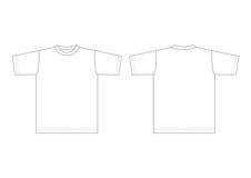 λευκό πουκάμισων τ Στοκ εικόνα με δικαίωμα ελεύθερης χρήσης