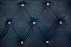 Λευκό που κουμπώνεται στο μπλε υπόβαθρο σχεδίων δέρματος Στοκ Φωτογραφία