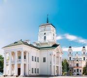 Λευκό που χτίζει το παλαιό Δημαρχείο στο Μινσκ, Λευκορωσία Στοκ φωτογραφίες με δικαίωμα ελεύθερης χρήσης