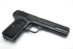 λευκό πυροβόλων όπλων αν&alph Στοκ εικόνες με δικαίωμα ελεύθερης χρήσης