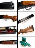 λευκό πυροβόλων όπλων κολάζ ανασκόπησης Στοκ φωτογραφίες με δικαίωμα ελεύθερης χρήσης