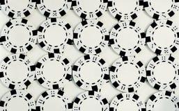 λευκό πόκερ τσιπ Στοκ φωτογραφία με δικαίωμα ελεύθερης χρήσης
