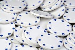 λευκό πόκερ τσιπ Στοκ φωτογραφίες με δικαίωμα ελεύθερης χρήσης