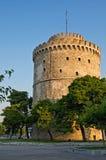 λευκό πύργων Θεσσαλονίκης Στοκ Φωτογραφία