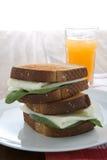 λευκό σάντουιτς αυγών στοκ εικόνες