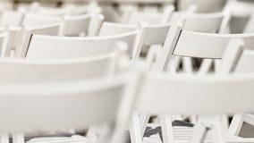 λευκό σειρών εδρών Στοκ Φωτογραφία