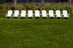 λευκό σειρών εδρών Στοκ Φωτογραφίες