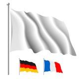 λευκό σημαιών Στοκ φωτογραφίες με δικαίωμα ελεύθερης χρήσης