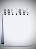 λευκό σημειωματάριων Στοκ Εικόνα
