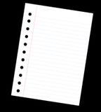 λευκό σημειώσεων Στοκ Εικόνα