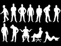 Λευκό σκιαγραφιών επιχειρησιακών ατόμων Στοκ εικόνες με δικαίωμα ελεύθερης χρήσης