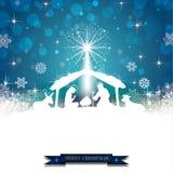 Λευκό σκιαγραφιών Nativity ελεύθερη απεικόνιση δικαιώματος