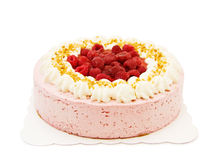 λευκό σμέουρων κέικ Στοκ φωτογραφία με δικαίωμα ελεύθερης χρήσης
