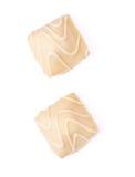 λευκό σοκολάτας καραμ&ep στοκ φωτογραφία