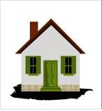 λευκό σπιτιών διανυσματική απεικόνιση
