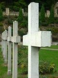 λευκό σταυρών Στοκ φωτογραφίες με δικαίωμα ελεύθερης χρήσης