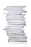 λευκό στοιβών εγγράφου Στοκ Φωτογραφία