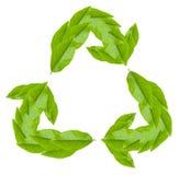λευκό συμβόλων ανακύκλωσης Στοκ εικόνα με δικαίωμα ελεύθερης χρήσης