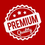 Λευκό σφραγιδών εξαιρετικής ποιότητας σε ένα κόκκινο υπόβαθρο Στοκ εικόνες με δικαίωμα ελεύθερης χρήσης
