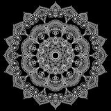 Λευκό σχεδίων Mandala Στοκ Φωτογραφία