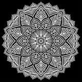 Λευκό σχεδίων Mandala Στοκ Εικόνες