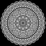 Λευκό σχεδίων Mandala Στοκ φωτογραφίες με δικαίωμα ελεύθερης χρήσης