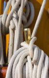 λευκό σχοινιών Στοκ Φωτογραφία