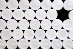 λευκό σύστασης κεριών Στοκ Εικόνα