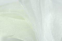 λευκό σύστασης organza υφάσματ& Στοκ εικόνες με δικαίωμα ελεύθερης χρήσης
