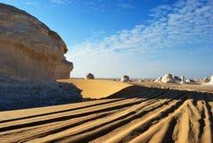 λευκό της Αιγύπτου Σαχάρα ερήμων Στοκ εικόνα με δικαίωμα ελεύθερης χρήσης