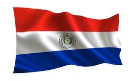 λευκό της Παραγουάης απεικόνισης σημαιών ανασκόπησης Μια σειρά σημαιών ` του κόσμου ` Η χώρα - σημαία της Παραγουάης Στοκ εικόνες με δικαίωμα ελεύθερης χρήσης