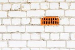 λευκό τοίχων πυριτικών αλάτων πλινθοδομής Στοκ φωτογραφία με δικαίωμα ελεύθερης χρήσης