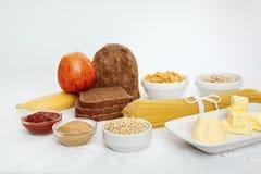 λευκό τροφίμων σιτηρεσίο Στοκ Εικόνα