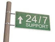 λευκό υποστήριξης σημαδ& Στοκ Εικόνα