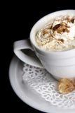 λευκό φλυτζανιών καφέ ανασκόπησης Στοκ Φωτογραφίες