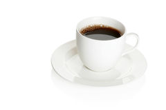 λευκό φλυτζανιών καφέ ανα Στοκ Φωτογραφίες