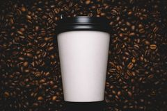 λευκό φλυτζανιών καφέ φα&sigma Στοκ εικόνα με δικαίωμα ελεύθερης χρήσης