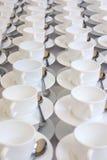 λευκό φλυτζανιών Στοκ εικόνα με δικαίωμα ελεύθερης χρήσης